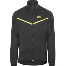 100% Corridor Windbreaker Jacket Men black/yellow